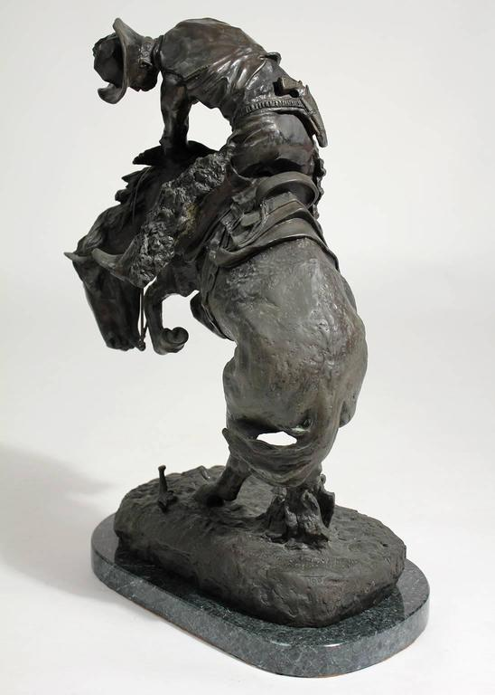 """Frederic Remington """"Rattlesnake"""" Bronze Sculpture In Excellent Condition For Sale In San Diego, CA"""