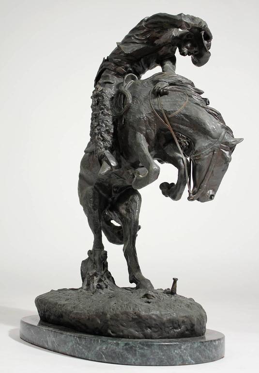 "Frederic Remington ""Rattlesnake"" Bronze Sculpture 5"