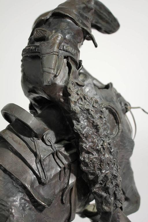 "Frederic Remington ""Rattlesnake"" Bronze Sculpture For Sale 3"