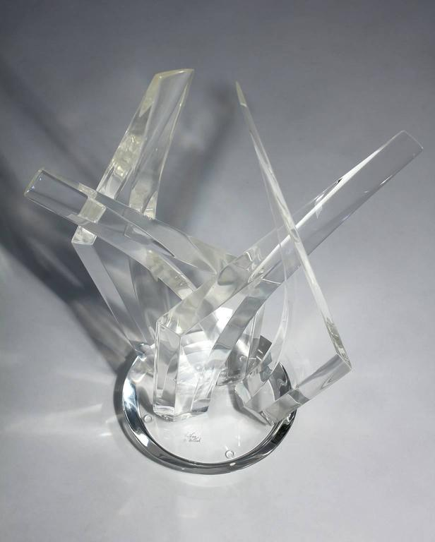 Late 20th Century Large Hivo Van Teal Lucite Abstract Sculpture For Sale