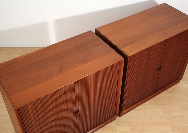 Pair of Teak Tambour Chests Buffets by Peter Hvidt & Orla Mølgaard Nielsen For Sale 2