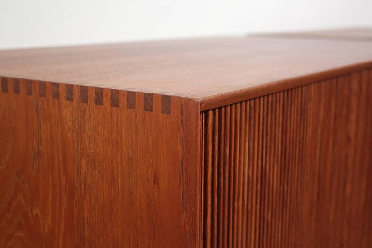 Pair of Teak Tambour Chests Buffets by Peter Hvidt & Orla Mølgaard Nielsen For Sale 3