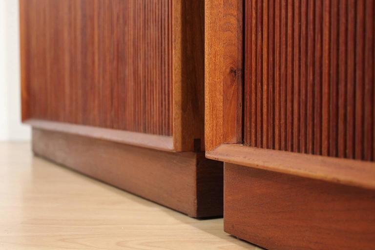 Pair of Teak Tambour Chests Buffets by Peter Hvidt & Orla Mølgaard Nielsen For Sale 5