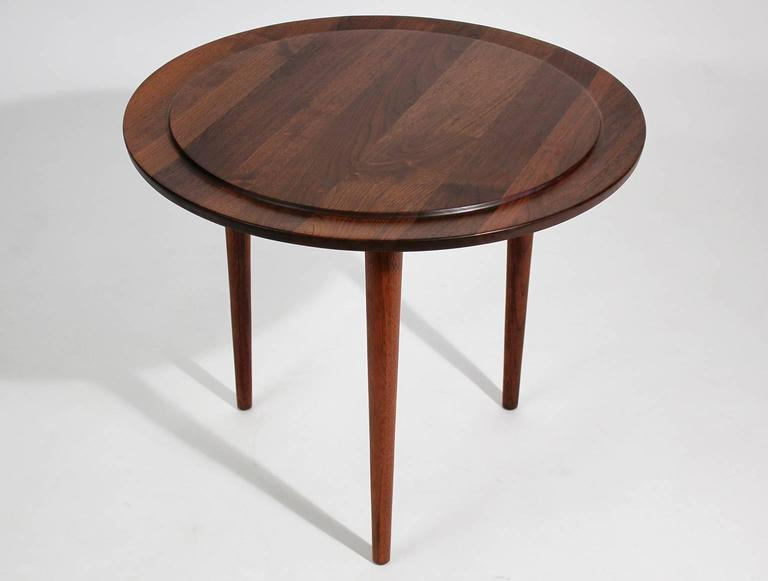Custom Modernist Round Side Table, 1963 2