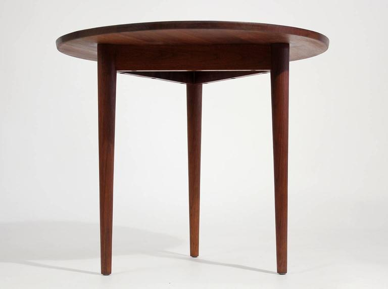 Custom Modernist Round Side Table, 1963 3