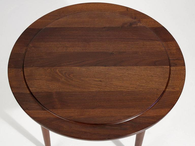 Custom Modernist Round Side Table, 1963 4