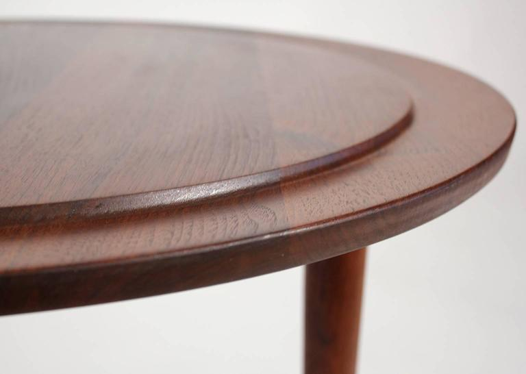 Custom Modernist Round Side Table, 1963 5