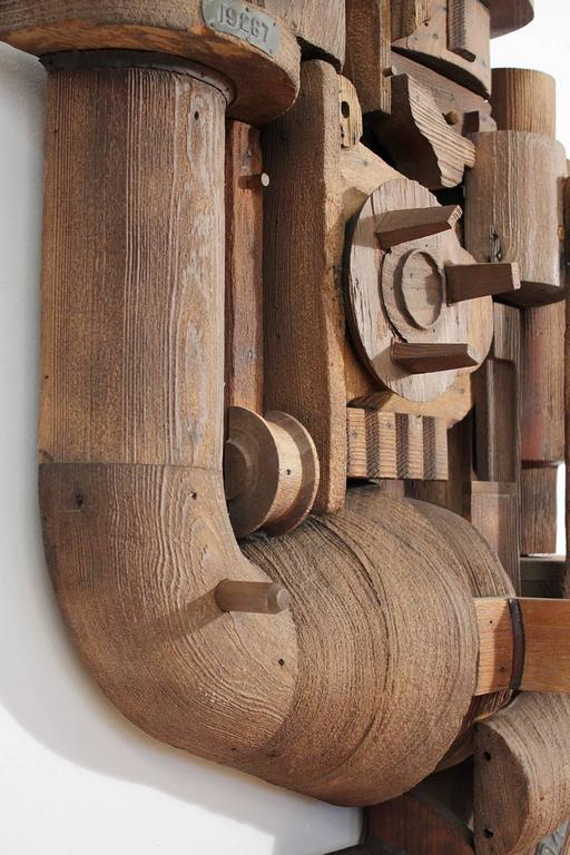 Abstract Wood Wall Sculpture Relief 6