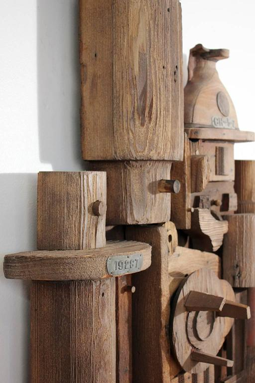 Abstract Wood Wall Sculpture Relief 8