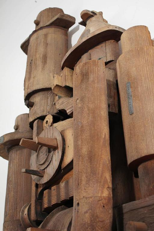 Abstract Wood Wall Sculpture Relief 9