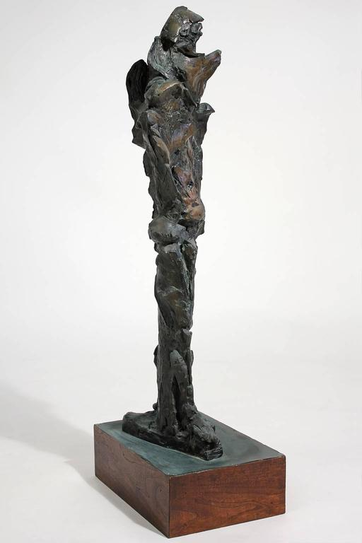 Unknown Large Abstract Figural Bronze Sculpture For Sale