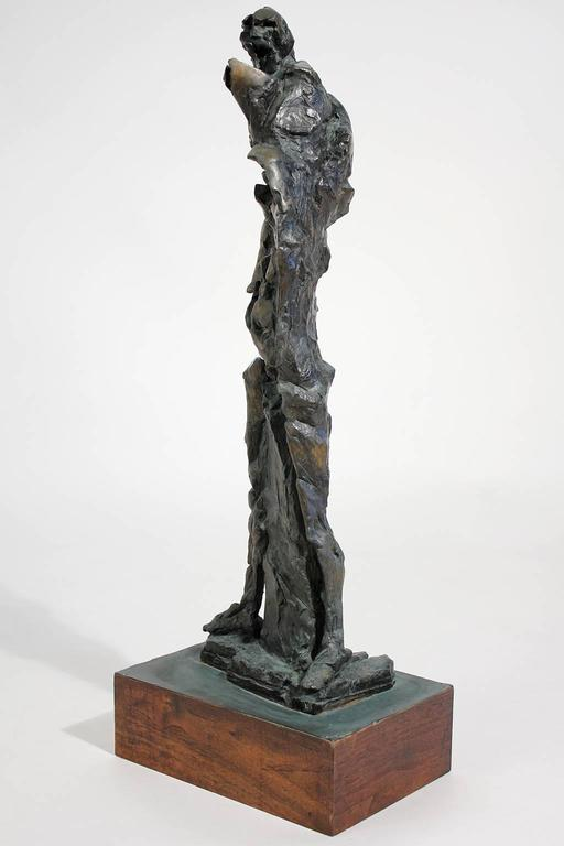 Large Abstract Figural Bronze Sculpture In Excellent Condition For Sale In San Diego, CA