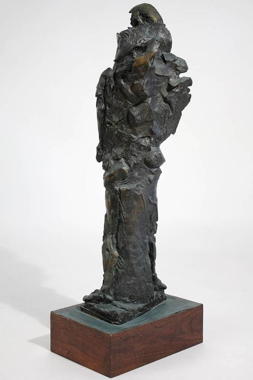 20th Century Large Abstract Figural Bronze Sculpture For Sale