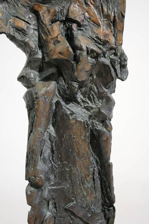 Large Abstract Figural Bronze Sculpture For Sale 3