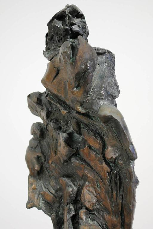 Large Abstract Figural Bronze Sculpture For Sale 4