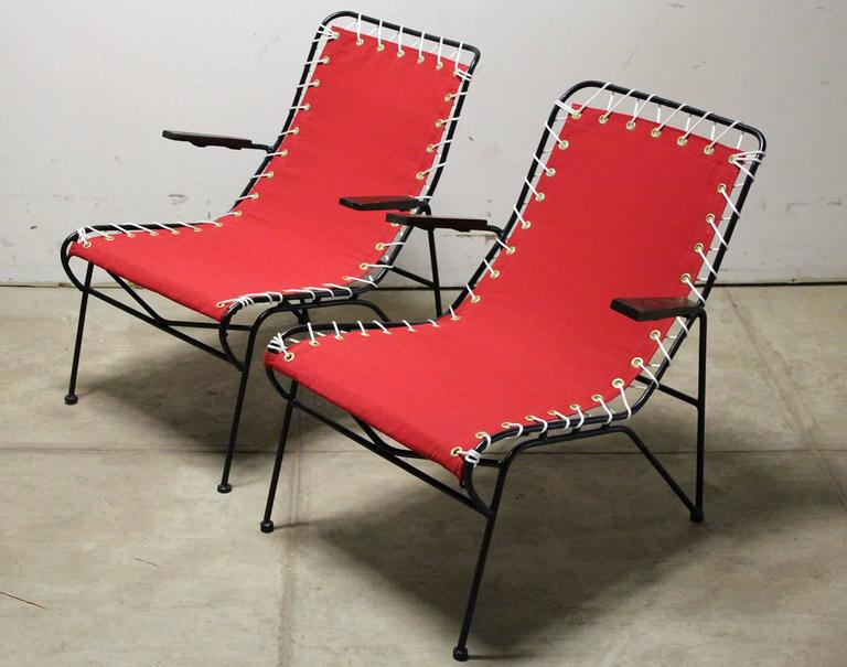 Pair of Pipsan Saarinen Swanson for Ficks Reed Outdoor Patio Armchairs 2
