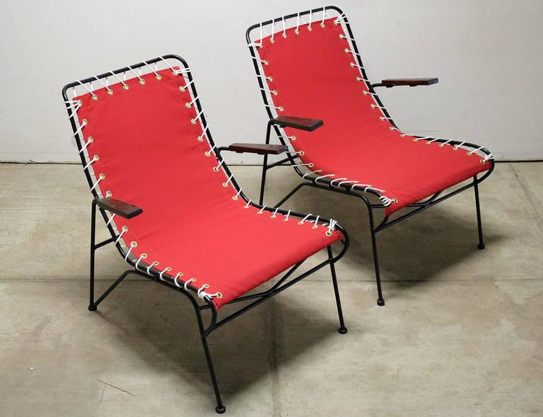 Pair of Pipsan Saarinen Swanson for Ficks Reed Outdoor Patio Armchairs 3