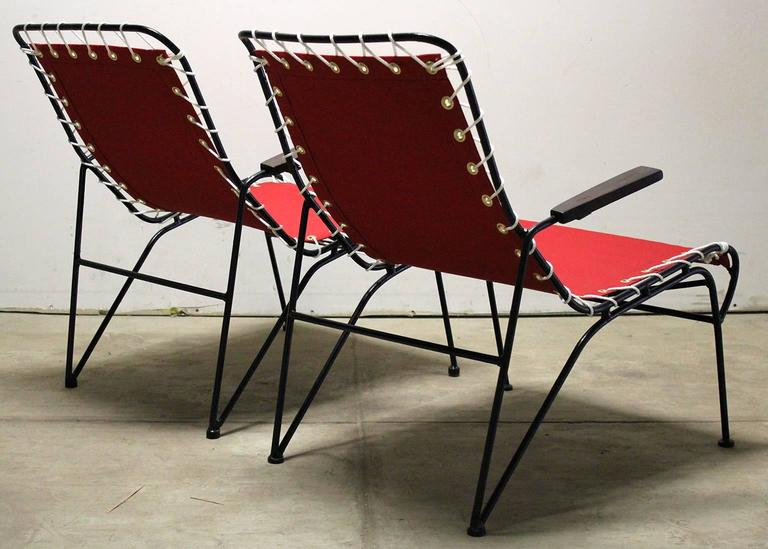 Pair of Pipsan Saarinen Swanson for Ficks Reed Outdoor Patio Armchairs 6