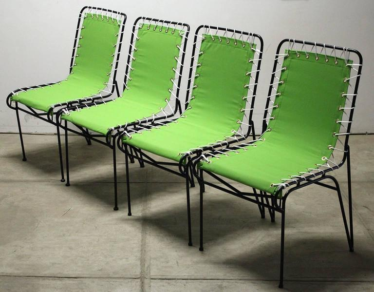 Set of Four Pipsan Saarinen Swanson for Ficks Reed Sitting Patio Outdoor Chairs In Excellent Condition For Sale In San Diego, CA
