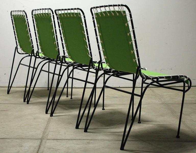 Mid-20th Century Set of Four Pipsan Saarinen Swanson for Ficks Reed Sitting Patio Outdoor Chairs For Sale