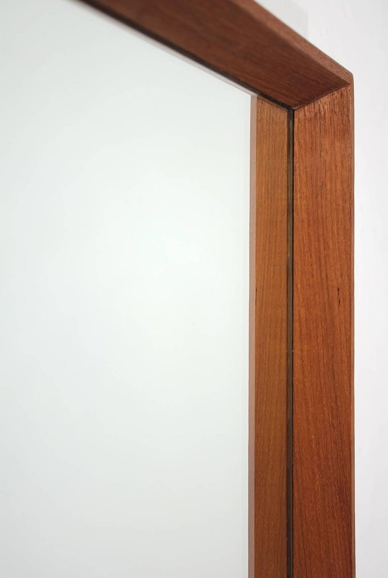 20th Century Modernist Danish Teak Mirror For Sale