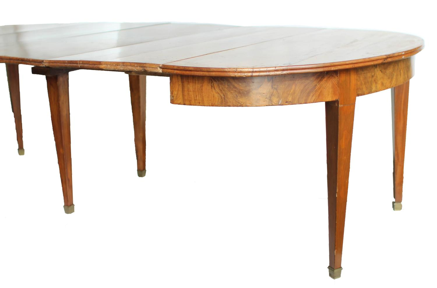 19th century french directoire walnut dining table for sale at 1stdibs
