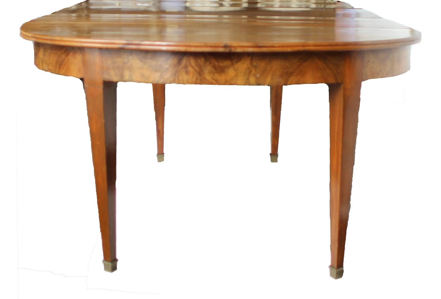 19th century french directoire walnut dining table for for 8ft dining room table