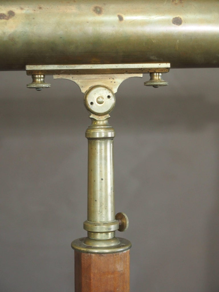 19th Century 19c Large Standing French Telescope For Sale