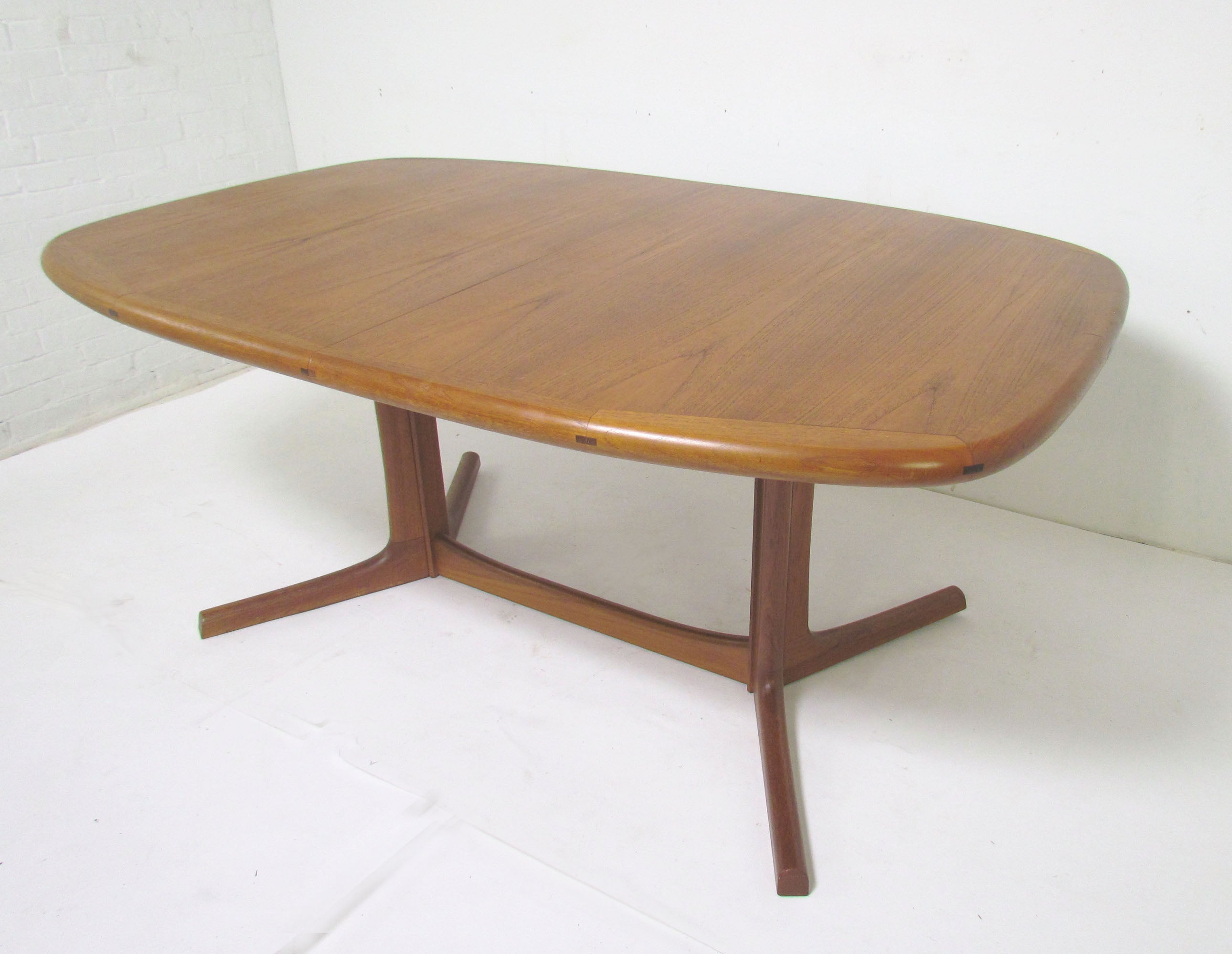 Danish Teak Dining Set, Expandable Oval Table and Six Chairs, circa ...