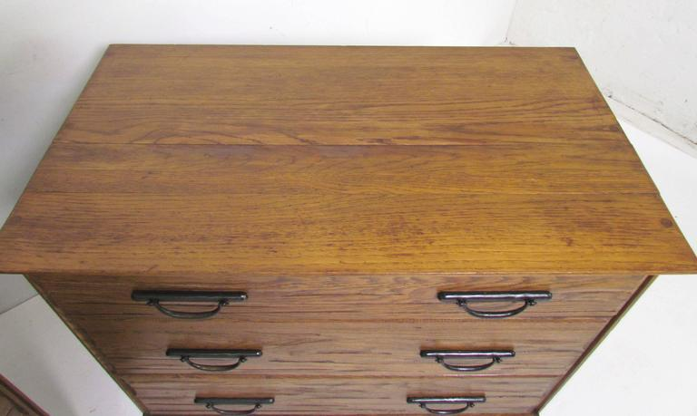 Pair Of Ranch Oak Dressers By A Brandt Furniture Co