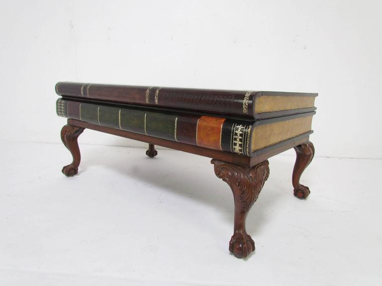 Maitland-Smith Stacked Leather Book-Form Coffee Table 2 - Maitland-Smith Stacked Leather Book-Form Coffee Table At 1stdibs