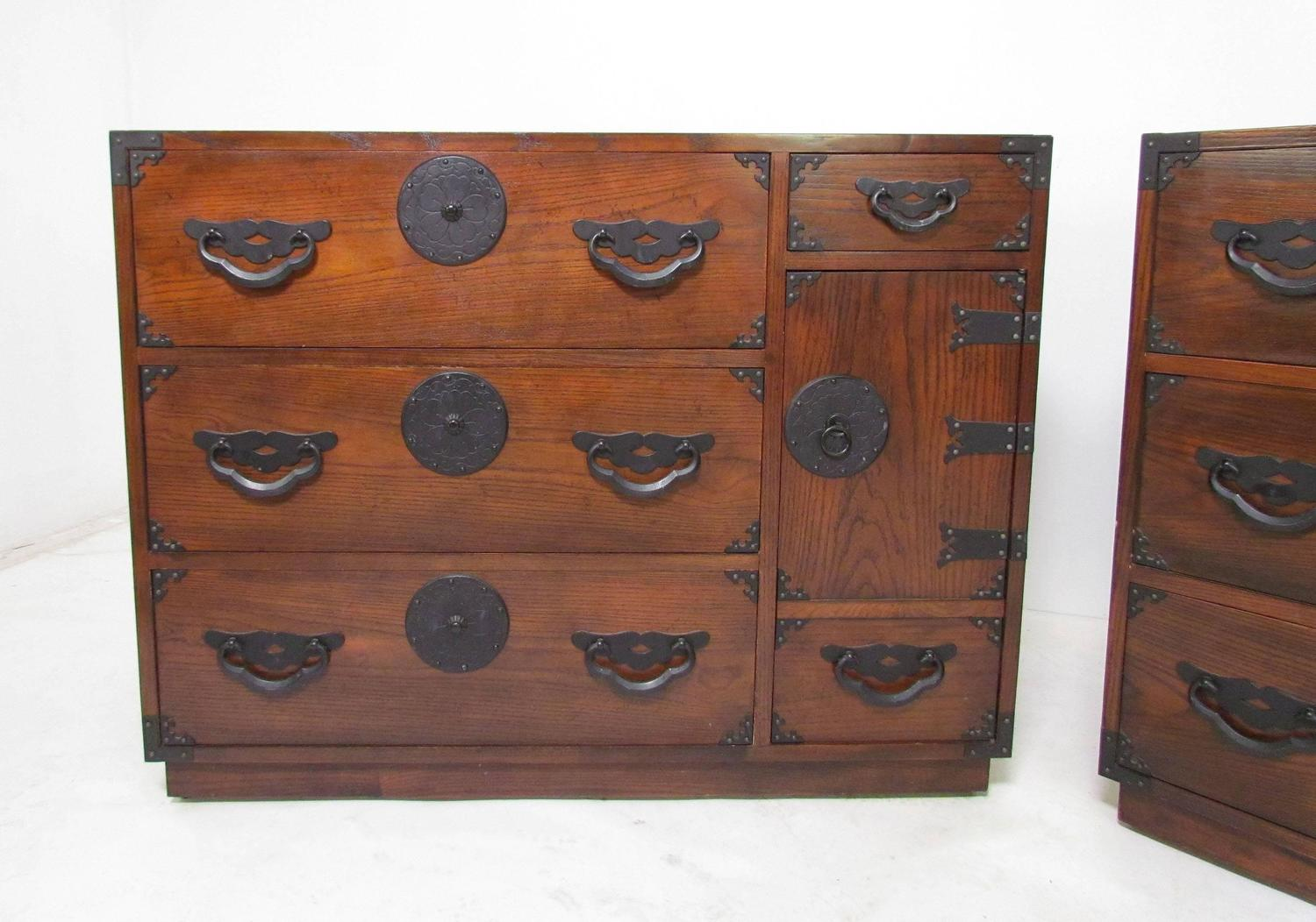 Pair Of Tansu Chests By Baker Furniture Circa 1960s For Sale At 1stdibs