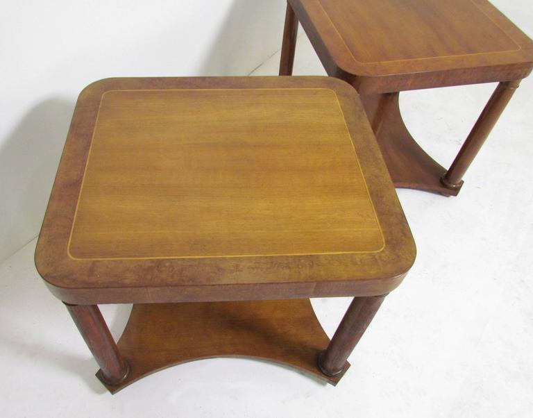 1960s Style Furniture pair of regency style end tablesbaker furniture, circa 1960s