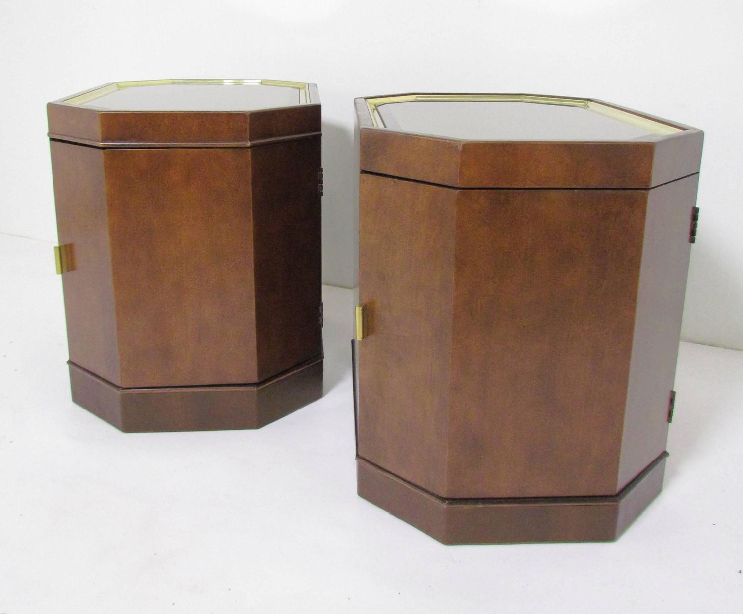 Leather Wrapped Nightstands
