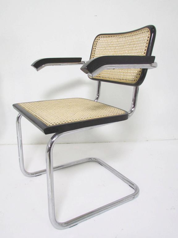 Set Of Six Marcel Breuer Cesca Chairs Made In Italy At