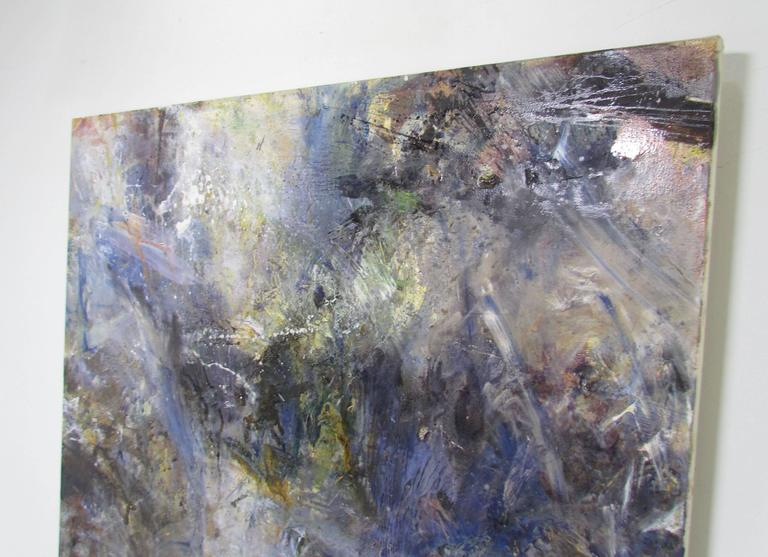 British Abstract Ethereal Large Oil Painting on Canvas by Noted Artist Rachel Budd For Sale