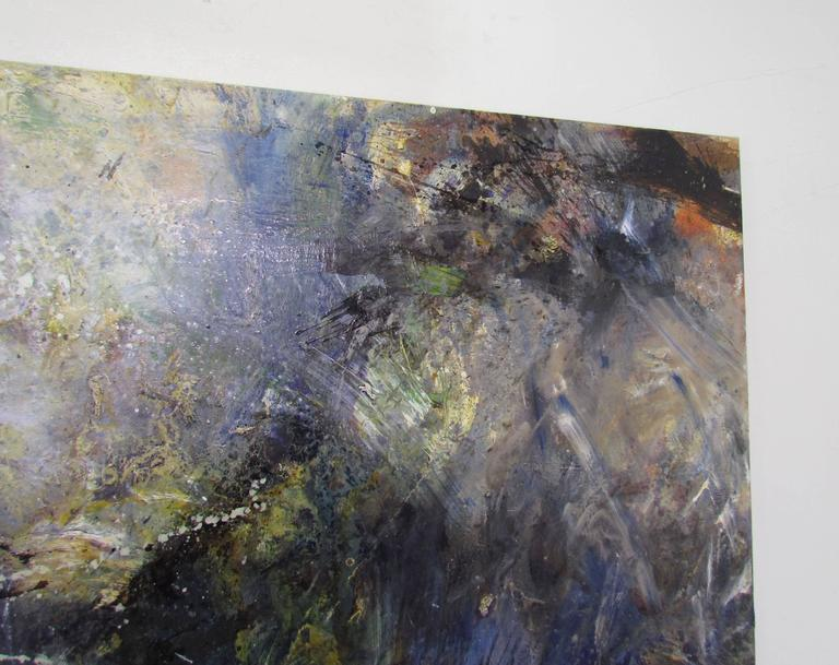 Abstract Ethereal Large Oil Painting on Canvas by Noted Artist Rachel Budd In Excellent Condition For Sale In Peabody, MA