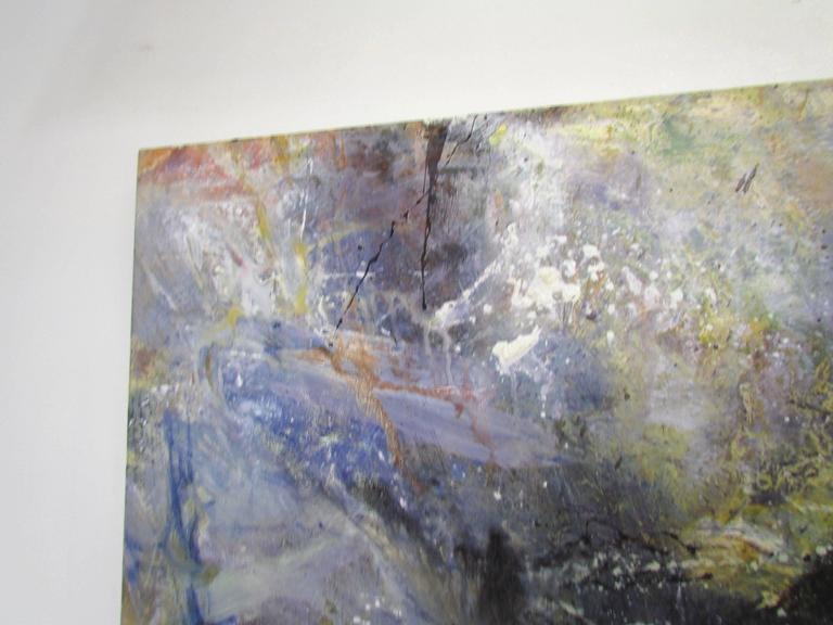 Post-Modern Abstract Ethereal Large Oil Painting on Canvas by Noted Artist Rachel Budd For Sale