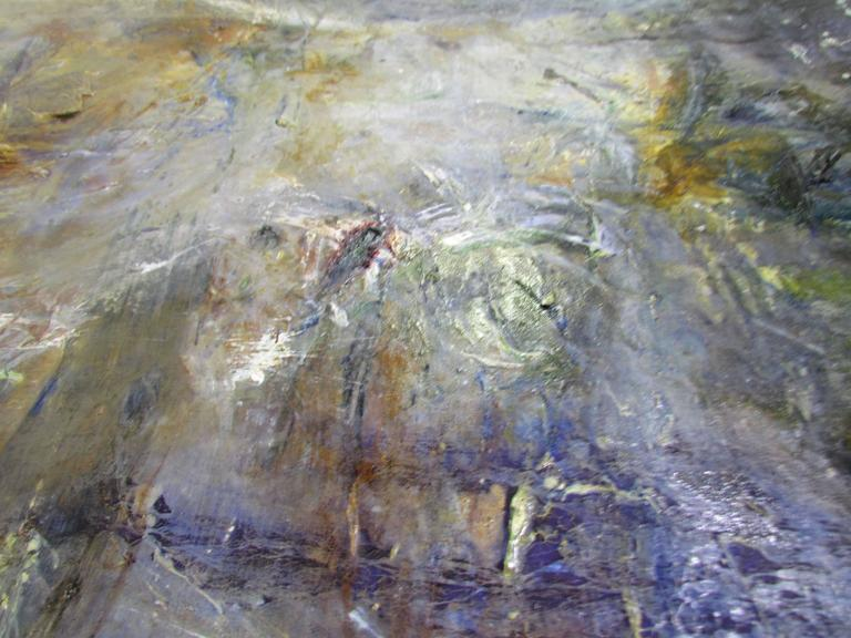 Abstract Ethereal Large Oil Painting on Canvas by Noted Artist Rachel Budd For Sale 3