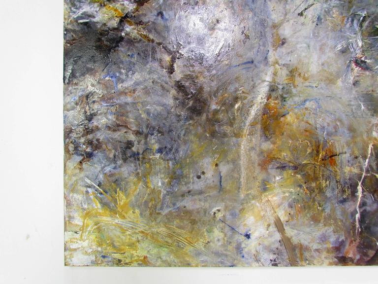 Abstract Ethereal Large Oil Painting on Canvas by Noted Artist Rachel Budd For Sale 1