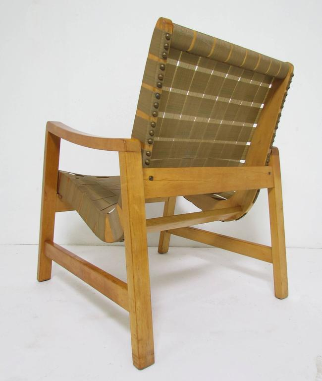 Mid Century Modern Jens Risom Lounge Chair With Original Webbing For Knoll,  Circa 1950s