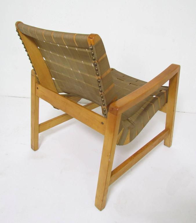 Jens Risom Lounge Chair with Original Webbing for Knoll, circa 1950s 4