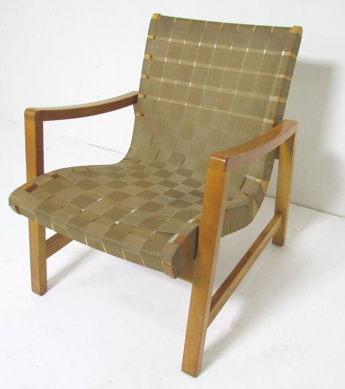 Jens Risom Lounge Chair with Original Webbing for Knoll, circa 1950s 6