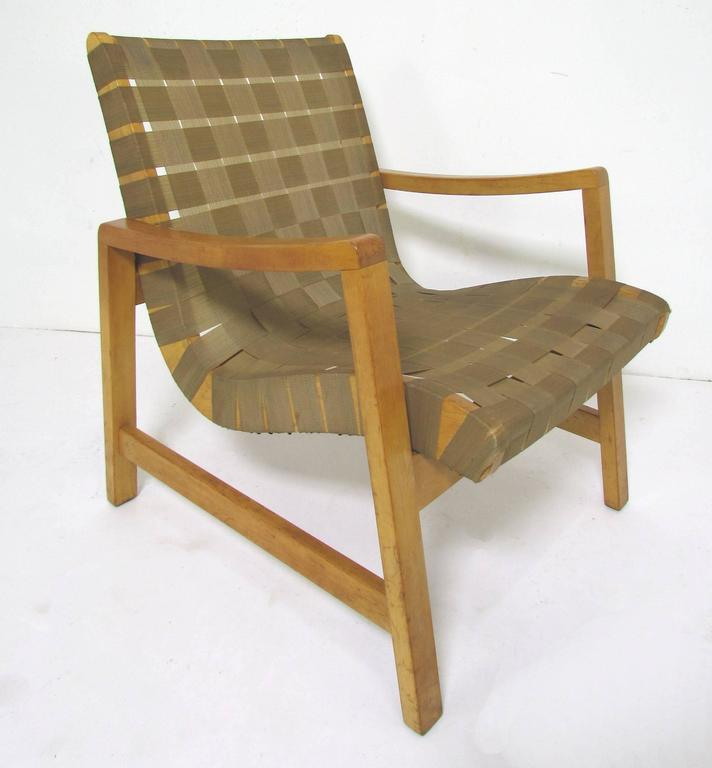 Jens Risom Lounge Chair with Original Webbing for Knoll, circa 1950s 5