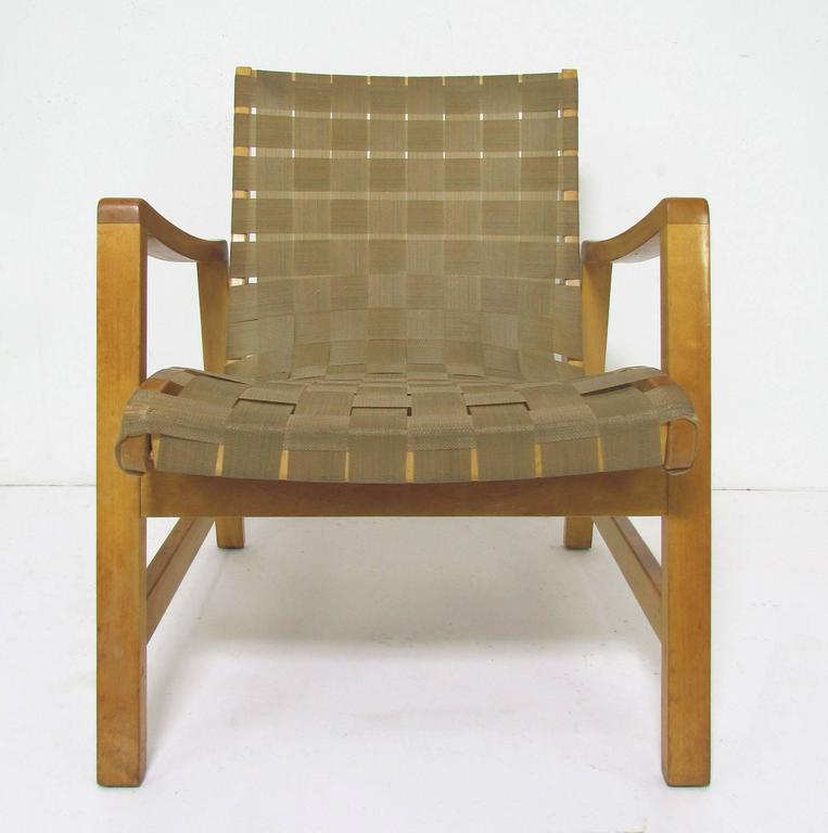 Jens Risom Lounge Chair with Original Webbing for Knoll, circa 1950s 7