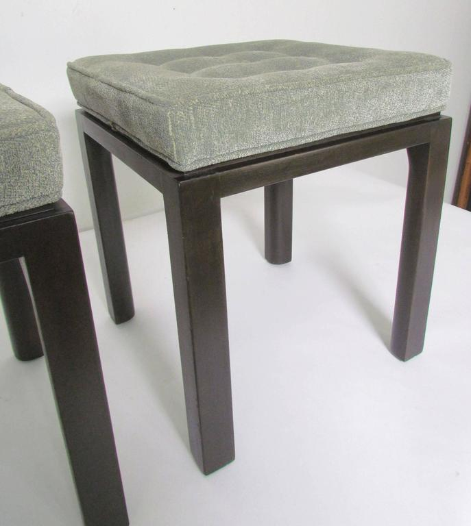 Pair of Mid-Century Modern Stools by Harvey Probber In Good Condition For Sale In Peabody, MA