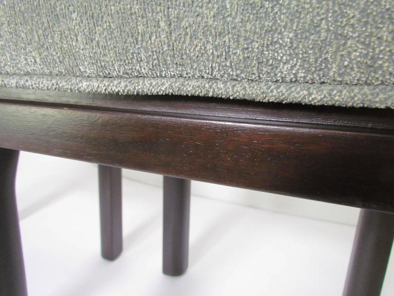 Upholstery Pair of Mid-Century Modern Stools by Harvey Probber For Sale