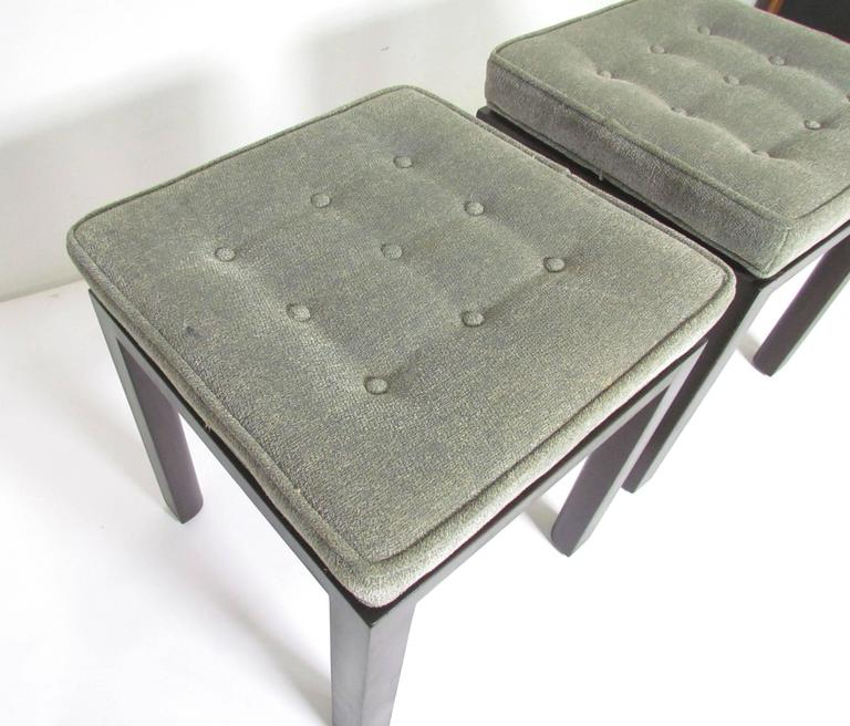 Pair of Mid-Century Modern Stools by Harvey Probber For Sale 1