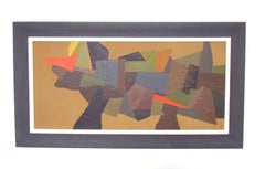 Abstract Oil Painting by Listed Boston Artist William Georgenes, d. 1958