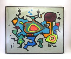 Abstract Oil by Ionis B. Martin, ca. 1960s